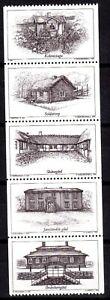 """NASZARKOWSKI/MORCK ENGRAVED SWEDEN 1995 """"SWEDISH HOUSES"""" PROOF/BLACK PRINT MNH"""