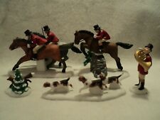 "Department  56 Heritage Village Accessory ""TALLY HO!"" ~ Fox Hunt ~ Set of 5"