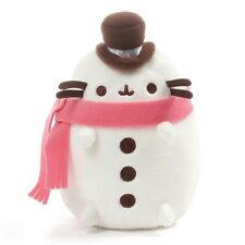 "GUND - Pusheen Christmas Snowman Plush 6"" Stuffed Animal, White"