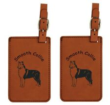 L2185 Smooth Collie Luggage Tags 2Pk Free Shipping 200 Breeds Available