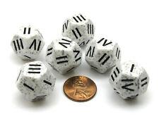 Speckled Roman Arctic Camo D4 Chessex Dice, 6 Pieces