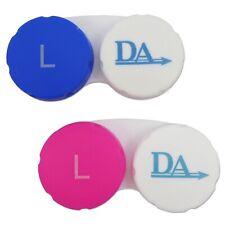 Casos de lentes de contacto ~ Paquete Doble Rosa y azul color de viaje de casos de remojo de almacenamiento