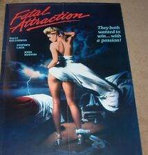 "Vintage Original 1986 FATAL ATTRACTION aka HEAD ON Movie Poster  36"" x 24"""