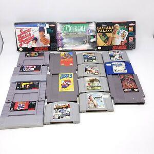 Lot of 17 Nintendo NES SNES N64 Games UNTESTED