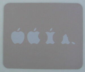 THE EATING OF THE APPLE printed MOUSE MAT PAD mousemat gift Mac or Macbook