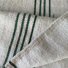 VELVET SOFT grainsack grain sack linen green stripes LOVELY