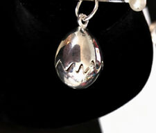 Adorable  New Sterling Golden Chick in  / Egg  (Opens)  Pendant  Free Shipping!