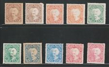 INDIA SIRMOOR 1885-96, 3P to 2An. SG5-9 (10V) MINT COMPLETE SET RARE.