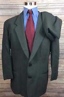 Giorgio Armani Collezioni Gray Herringbone 2 Button Wool Suit Men's 44R 31x30