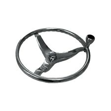 "Marpac ST100555 SS Steering Wheel 13"" w/ Knob Cap Nut 12mm for Uflex Helm  MD"