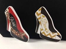 Red Animal Print High Heel Shoes Ceramic Refrigerator Magnets Free Shipping