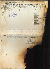 THE BEATLES REPRO 1960 TOP TEN CLUB HAMBURG CONTRACT STUART SUTCLIFFE SIGNATURE