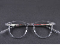 Vintage Round Eyeglass Frames Wood Grain Spectacles Acetate Glasses Retro HFA638
