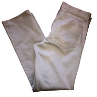J Crew 770 Mens Size 33 x 32 Ivory Flat Front Straight Leg Textured Chino Pants