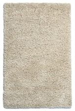 Purity Modern Cream Shaggy Rug 100% Polypropylene 160cm X 230cm (7ft 6 x 5ft 3)