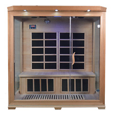 4 (FOUR) PERSON INDOOR INFRARED SAUNA WITH CARBON CERAMIC AND HALOGEN HEATERS