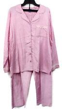 Womens Flannel Pajamas 1X Laura Scott Notch Collar Polka Dot Pink