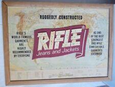Tableau Atlas Publicité Vêtement Jeans RIFLE (10650)