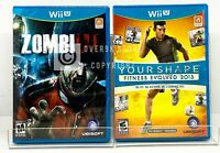ZombiU + Your Shape Fitness Evolved 2013 - Nintendo Wii U - Brand New