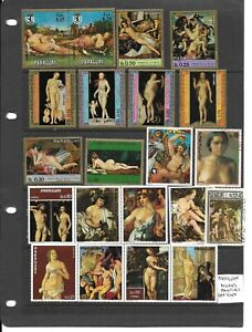 Paraguay Paintings mint/used selection (A)