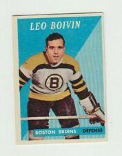 Leo Boivin 58-59 Topps # 20 Boston Bruins 1958-59