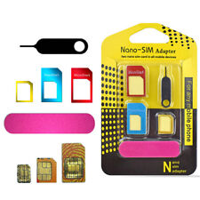 iPhone 5 IN 1 Nano SIM Card to Micro Standard Adapter Adaptor Converter Set New