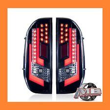 Toyota Tundra Gloss Black Clear LED Tail Lights 2014-2017 WINJET WJ20-0377-16