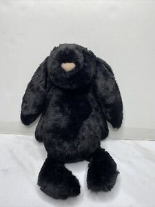 Jellycat RARE Retired Black Bashful Bunny Treacle Rabbit Excellent Condition 12""