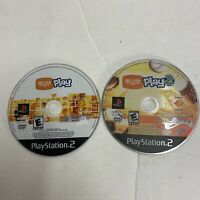 PS2 Eye Toy 1 & 2 Play Playstation 2 Video Game, Disc Only Free Shipping
