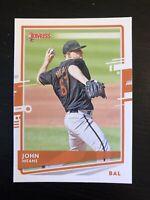 John Means 2020 Panini Donruss Baseball Card #206 Baltimore Orioles