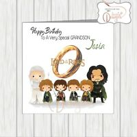 Personalised Lord Of The Rings Birthday Card Son Daughter Dad Grandson Nephew
