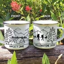 New listing Personalized Hikers Campfire Mug Hiking Custom Camping Mug - Hikers With Dog Mug