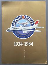 BRITISH AIRWAYS LONDON - JERSEY 50 YEARS VINTAGE BROCHURE 1934-1984 BA RAPIDE