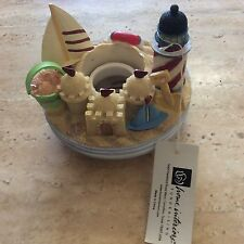 Candle jar topper fits Yankee candle jar beach lighthouse boat sand castle new