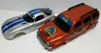 1:20 RC LOT OF 2 BODY SHELLS / CHEROKEE & VIPER / WELL USED BUT STILL DECENT