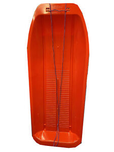 Sturdy Red 1 Meter Long Sled Snow Sledge With Rope