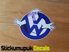 VW Ghostbusters (Azul) Gracioso Pegatina/Calcomanía Coche Furgoneta Volkswagen Escarabajo Dub T5 Golf