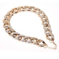 Fashion Retro Gothic Punk Golden Chunky Link Chain Short Necklace #gib