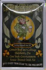 IRLANDESE Pub - FORTUNATO leprechaun Club - Targa di latta - 30 x 20 cm (B 871)