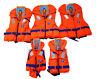 Feststoff Rettungsweste Typ 100 EN ISO 12402-4 Baby - Erwachsene Auswahl Orange
