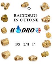 """Raccordi in ottone giallo filettati idraulici 1/2 3/4 1"""" raccordo ottone acqua"""