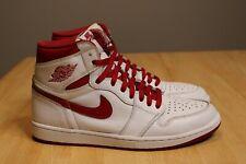 Nike Air Jordan 1 Retro High OG White Metallic Red 555088 103 Size 11 (2017)