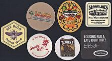 Beer Coaster Lot #2: 7 Different (5 Unused & 2 Used)