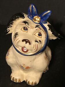 Shawnee Pottery 1947 Muggsy Ceramic Cookie Jar Made in USA NO CHIPS OR CRACKS