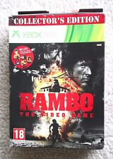 RAMBO (XBOX 360): COLLECTOR EDITION (GAME, ACTION FIG + RAMBO MOVIES DVDs). NEW!