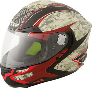 Fly Racing Luxx Shock Full Face Motorcycle Helmet Camo Red