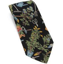 Tango Gardner Tie Black Cotton Neck Tie with Garden Print by Max Raab