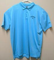Callaway Golf Polo Shirt Opti-Dri Size XL - Blue Solid IK1