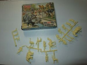 ORIGINAL 1960s  AIRFIX ZOO ANIMALS SET 1   HO OO 1/72 RARE  BOXED  LOOK!!