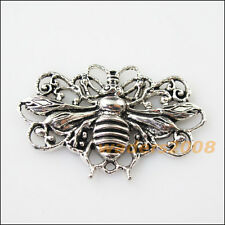 3 New Bee Animal Connectors Tibetan Silver Tone Charms Pendants 29x45mm